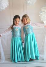 2016 Fashion Custom Anna Elsa Girls Girl Dresses Princess Dress Kids Party Vestidos Baby Children Cosplay Dress Wedding Pincess