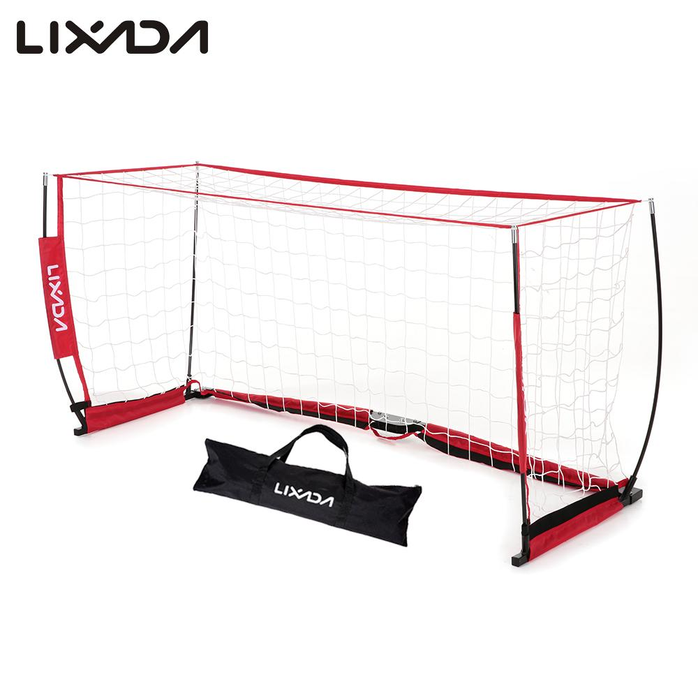 Lixada Soccer Net 6.6*3.3ft Detachable Portable Soccer Sturdy Goal Frame Fiberglass Pole for Playground Backyard Training(China (Mainland))