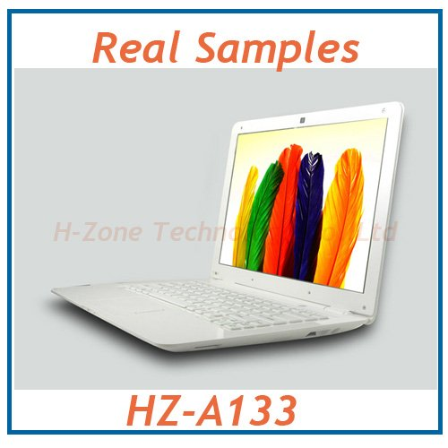 Popular thin 13.3 inch mini laptop computer with Atom D2500 1.86Ghz cpu,win7 os 4G RAM&500GB HDD,1.3MP webcam 3200mah battery(Hong Kong)