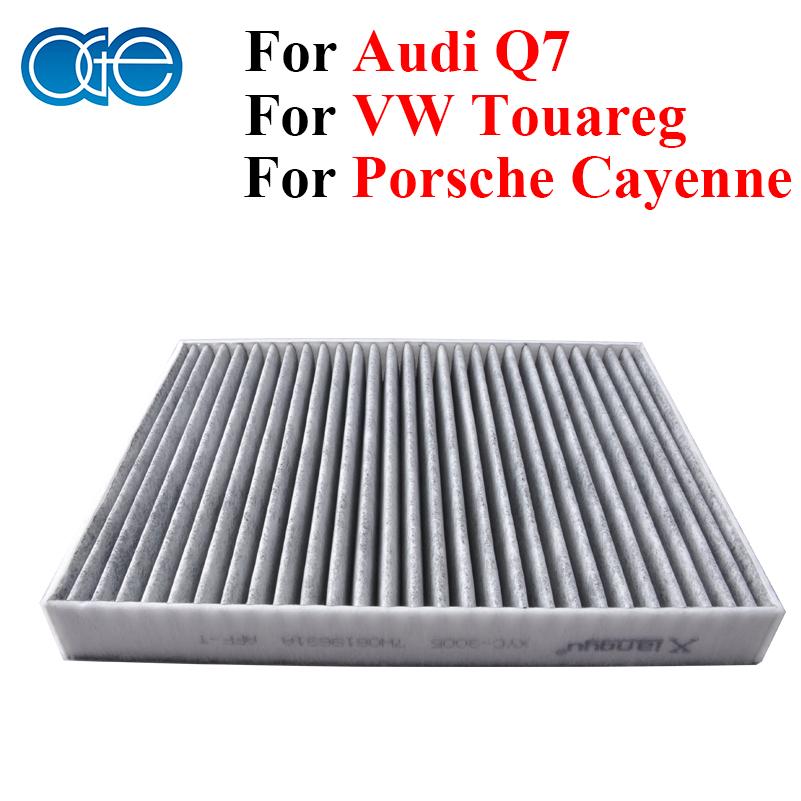 Car Carbon Cabin Air Filter For Audi Q7 Porsche Cayenne VW Touareg Transporter Multivan Amarok 95557221910 7H0819631A 123VG0172(China (Mainland))
