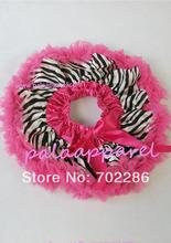 hot pink zebra baby skirt infant girls short pettiskirts newborn wear birthday clothing(China (Mainland))