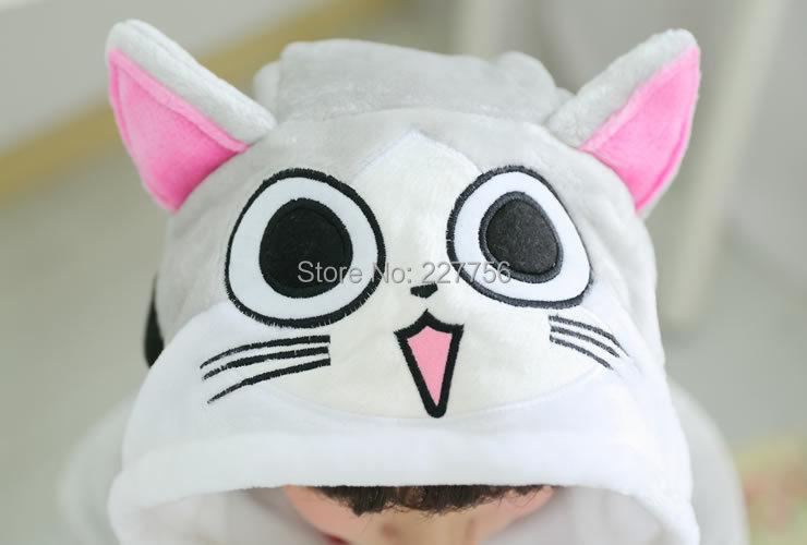 Сыр кошка форма новый Adults' все в одном пижамы фланелевые пижамы HomeDress установить косплей костюм ну вечеринку мультфильм одежды, Удобные