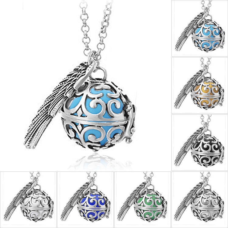 Pendant Necklace Pregnancy Balls Bola with Cage Angel Ball Baby Chime Hollow Out Metal Chain Necklaces & Pendants for Women(China (Mainland))