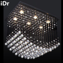 Square lamp restaurant lights bedroom crystal chandelier table iDr-0016(China (Mainland))