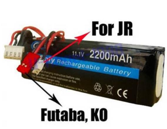 Regester free shipping!! RC Transmitter Lipo Battery 11.1V 2200mAh For JR Futaba BEC Transmitter(China (Mainland))