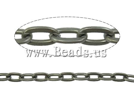 Free shipping!!!Iron Oval Chain,Love Jewelry, Flat Oval, plated, nickel, lead & cadmium free, 5x9mm, Length:100 m, Sold By PC