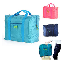 Easy Carry Foldable Waterproof Large Nylon Travel Camping Cycling Luggage Suitcase Organizer Storage Container Tote Bag Folding