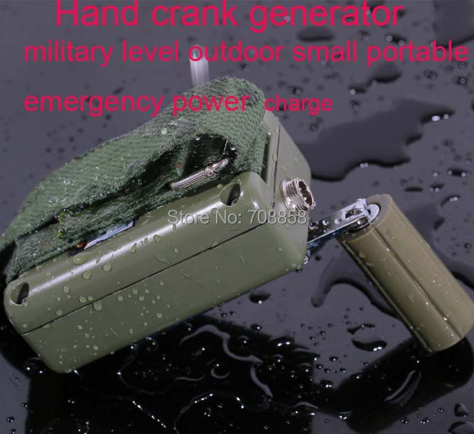 military Hand crank generator 5v 3-28v outdoor small portable emergency power electricity charger mobile phone,1 sets free ship(China (Mainland))