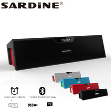 Sardine SDY-019 big power 10W output HIFI portable wireless bluetooth Speaker Support SD card player(China (Mainland))