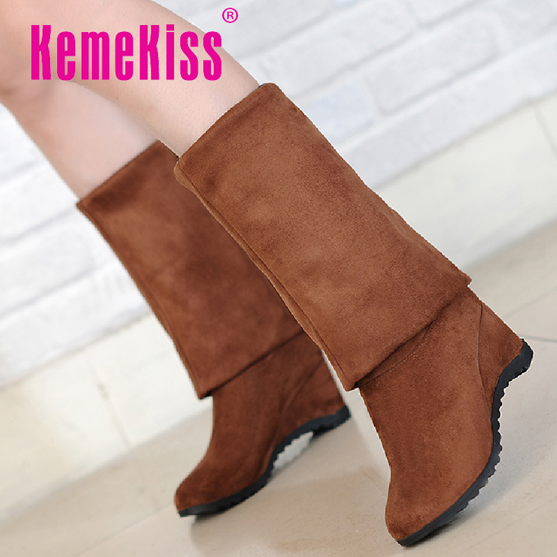 women weges over knee boots ladies wedding fashion long snow boot warm winter botas heels footwear shoes P19443 size 34-39<br><br>Aliexpress