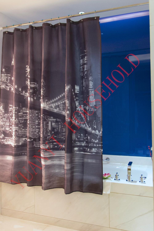 Bathroom Decoration Polyester Printed Fabric Brooklyn