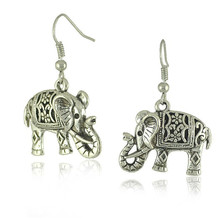 2016 Retro animal elephant stud earrings for women valentine's day gifts vintage jewelry cheap wholesale elephant stud earings(China (Mainland))