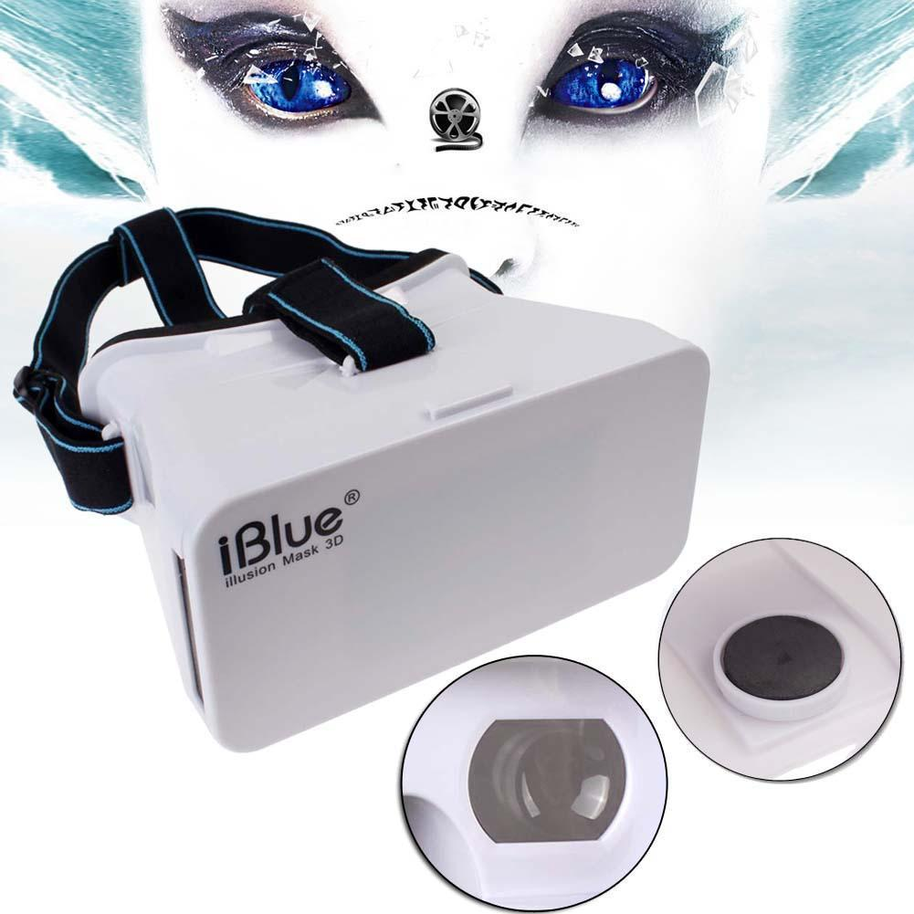 "iBlue Head Mount Plastic VR Virtual Reality Vedio 3D Glasses for 5.6"" Phone Google Cardboard #B ANG(China (Mainland))"