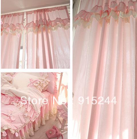 R stica cortina de color rosa ventana de la princesa - Cortinas para jardin ...