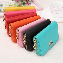 2016 Fashion Female Wallets Zipper Korean Cute Leather Solid wallet Women Wallets clutch carteira feminina Wallet carteras mujer(China (Mainland))