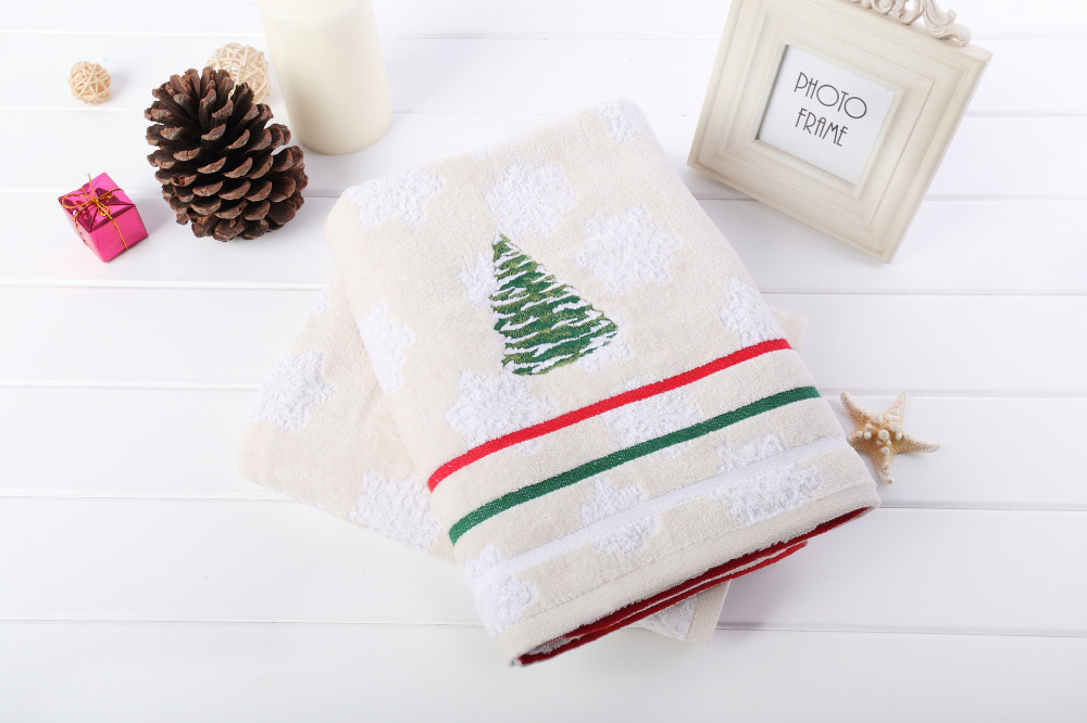 3pcs Decorative Luxury Cotton Bath Towels Sets for Adults,The Christmas tree Bathroom Towels Sets(China (Mainland))