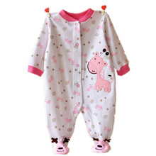 2015 Autumn Baby Rompers Newborn Baby Body suits Foot Cover Clothes vestidos meninas roupas infant clothing(China (Mainland))