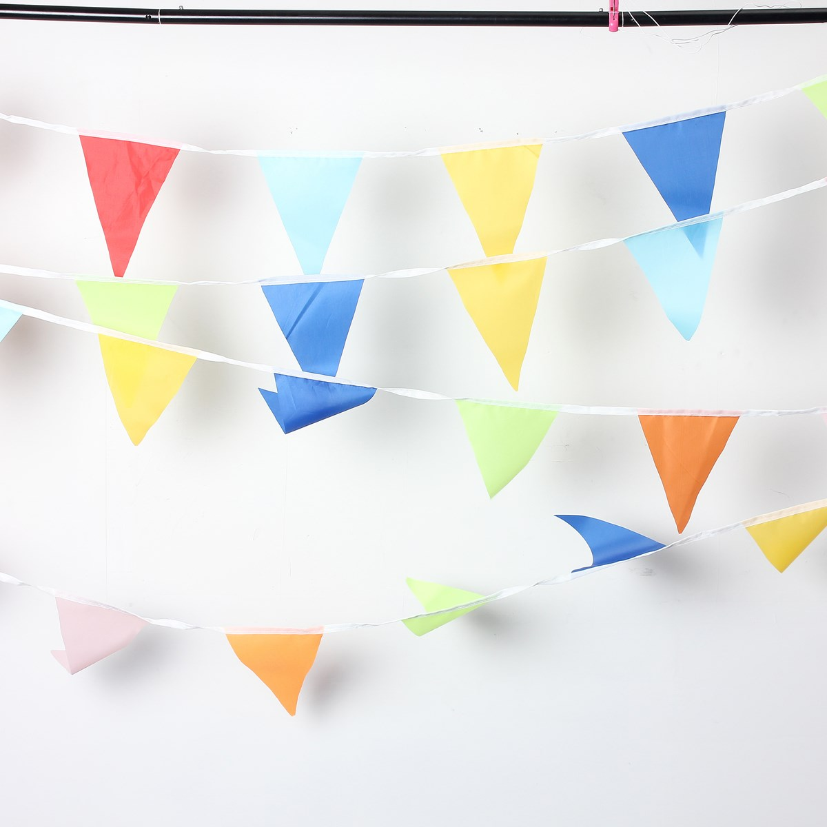 Multicolor Outdoor Flags Banner Rainbow Bunting Kids Birthday Party Festivel Decorative Crafts 10 Meter Wedding Decoration(China (Mainland))