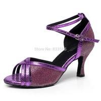 A15 женщин девочек танго бальных Латинской сальса танец обувь на каблуке 7,5 см vd001 t15