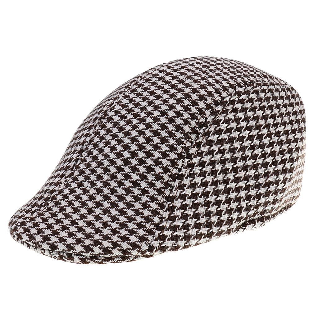 Children Kids Peaked Country Cabbie Golf Hats Cotton Hound Tooth Beret Cap Newsboy Flat Hat Fashion Outdoor Acc