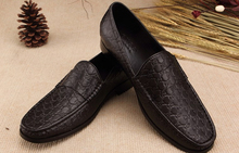 Top quality new 2014 mens Patent leather Pleated shoes brand designer business Formal shoes slip-on men flats size39-45(China (Mainland))