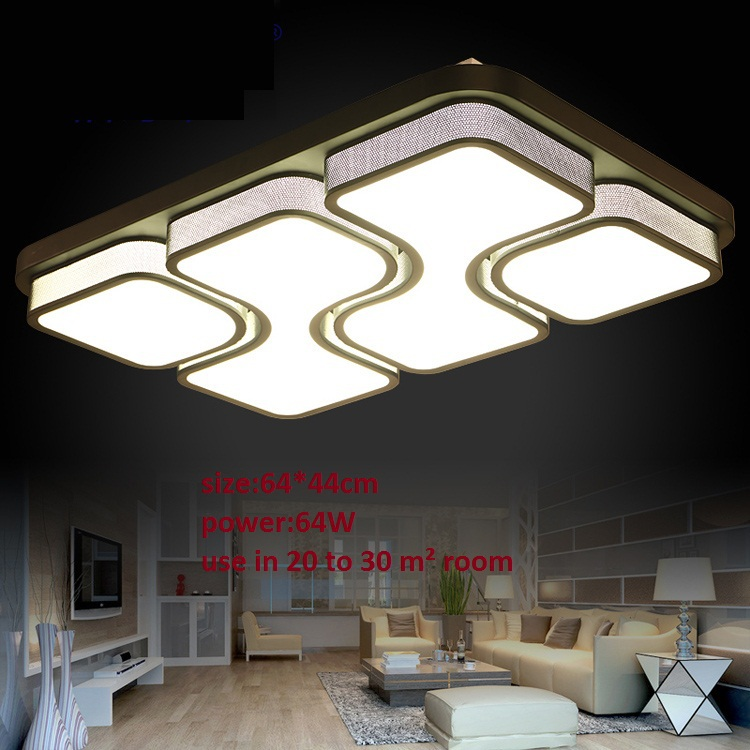 Simple White 64w Ceiling Lights For Home Livingroom Bedroom Indoor Lighting Surfaced Mounted