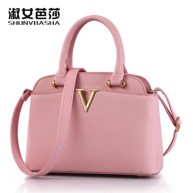 2016 new bags OL bag female fashion handbag Crossbody Bag Type commuter shoulder bag free shipping V word(China (Mainland))