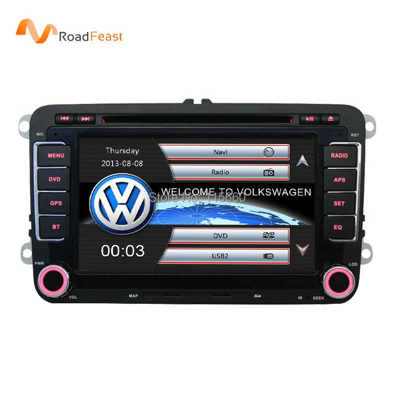 "7"" 2 din Car DVD for Volkswagen VW golf 4 golf 5 6 touran passat B6 sharan jetta caddy transporter t5 polo tiguan with gps card(China (Mainland))"