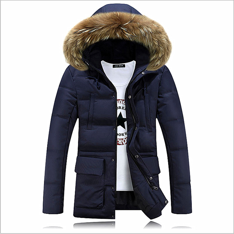 NORMEN Brand 2016 Winter New Men's Solid Long Parkas Fashion Padded Streetwear Casual Overcoat Winter Jacket Men Suit For -20(China (Mainland))