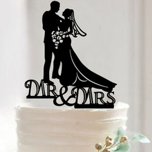 Buy Romantic Acrylic Cupcake Cake Topper Marry Mr & Mrs Cake Flags Festival Birthday Wedding Anniversary Party Baking Decor Supplies for $1.89 in AliExpress store