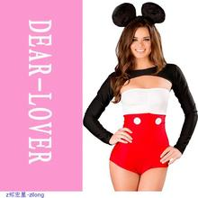 3PCS Sexy Tux & Ears Fantasty Costume Halloween For Women LC8745 Sexy Adult Costume Outfit Cosplay uniform Exotic Apparel