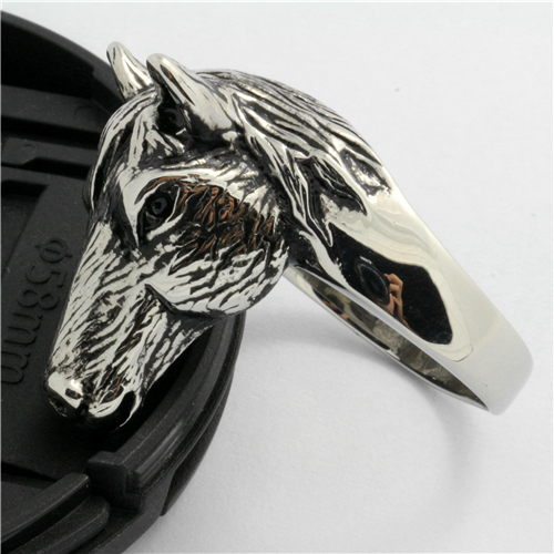 New Arrival Mens Boys 316L Stainless Steel Cool For Horsemanship Horse racing Fans Silver Ring Guarantee 100%(China (Mainland))