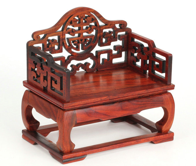 4 9 Ming Qing Furniture Miniature Dalbergia Wooden Throne Chair Antique Technique Chinese Wood