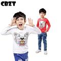 Fashion brand 3-10 age spring autumn baby boys t shirts,cartoon house children tshirt,cotton full sleeve kids christmas shirts