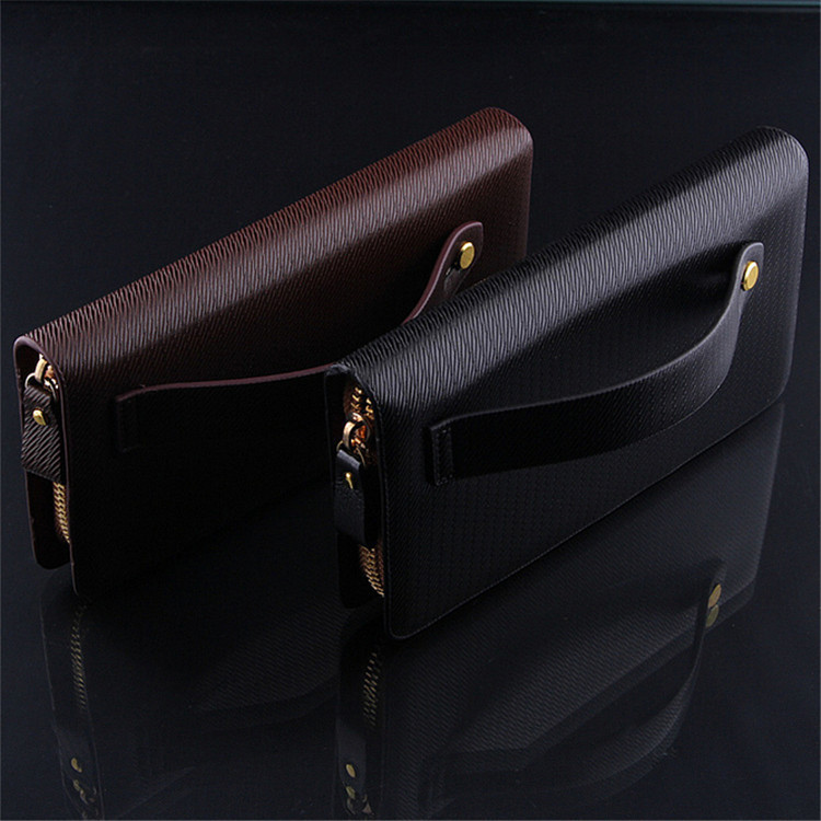 QB-08 Men's leather wallet pull singles Business . Clutch with handle , Stylish, simple, fashionable, soft(China (Mainland))