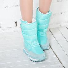 2016 Mujeres del Invierno Patea los zapatos de las mujeres zapatos de nieve Invierno colorido botas de Agua caliente con Algodón en tubo Más El tamaño de arranque xz-29(China (Mainland))