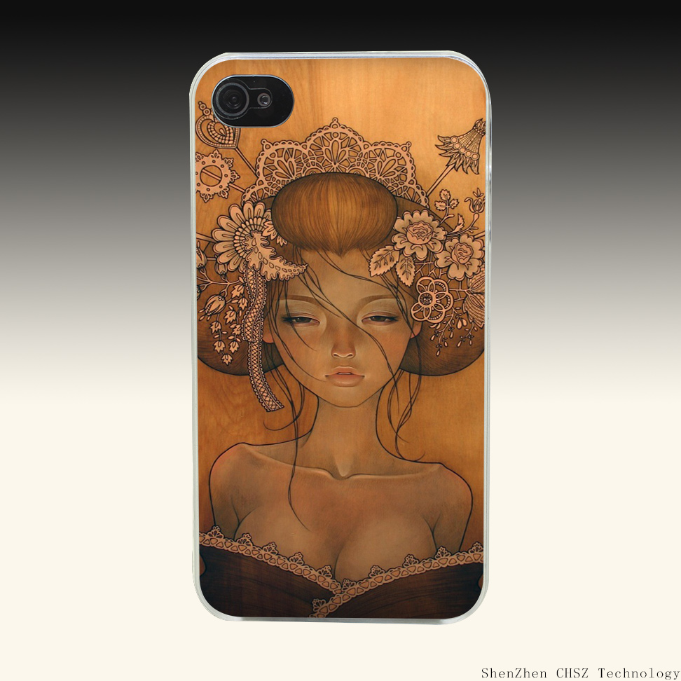 46O Audrey Kawasaki Painting Art Hard Clear Case Transparent Cover for iPhone 4 4s 5 5s SE 6 6S Plus(China (Mainland))