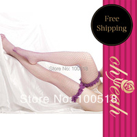 20575 Recommend Free Shipping Lace Trim Purple and red Fishnet Sexy stockings leggings popular stockings sexy knee socks