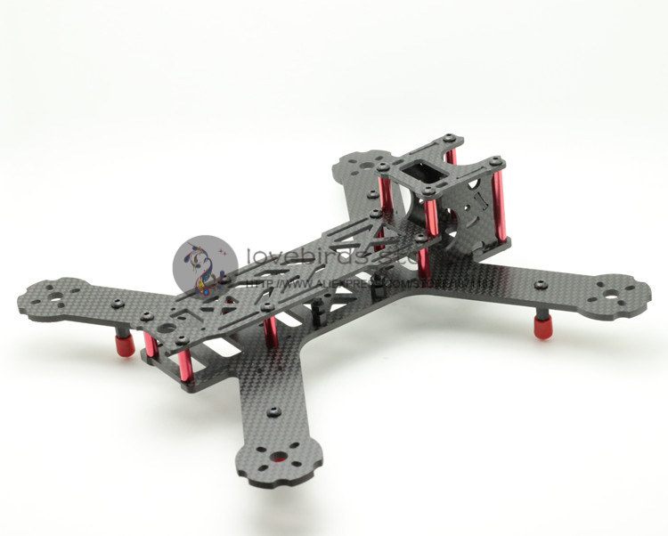 DIY fpv mini drone pure carbon fiber race quadcopter LT HEX4-235 X235 frame body and wing arms integrally molded unassembled(China (Mainland))