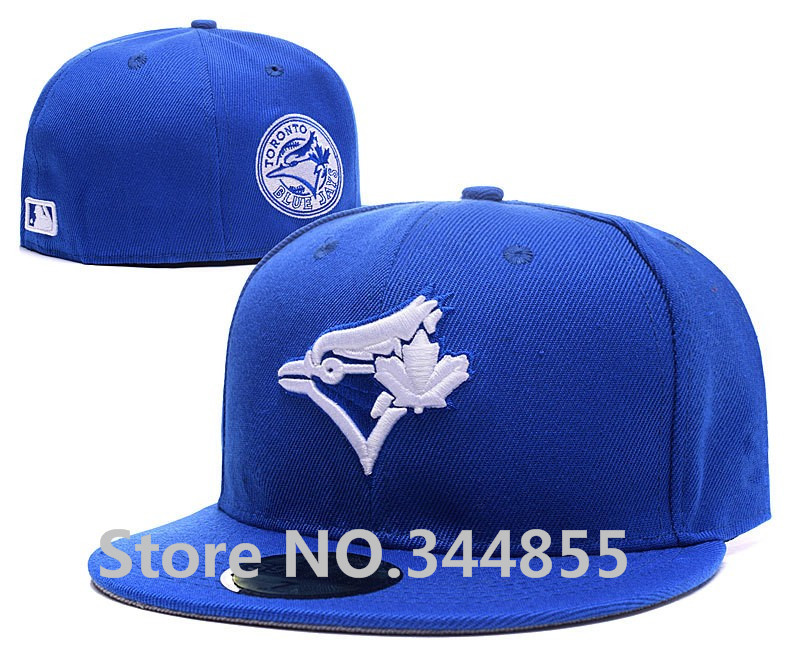 Blue Classic Toronto Blue Jays Fitted Hats In Blue Color Sport Baseball C-Dub Patch Embroidered Character Logo Full Closed Caps(China (Mainland))