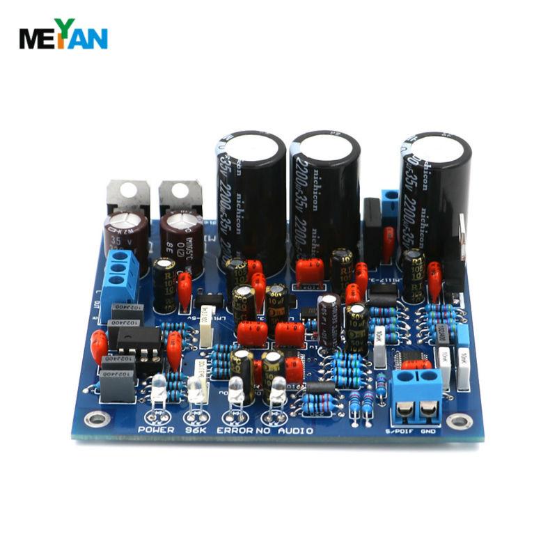 24 BIT 192K HZ DAC CS8416+AK4396+NE5532P SPDIF To audio output DAC finished board(China (Mainland))