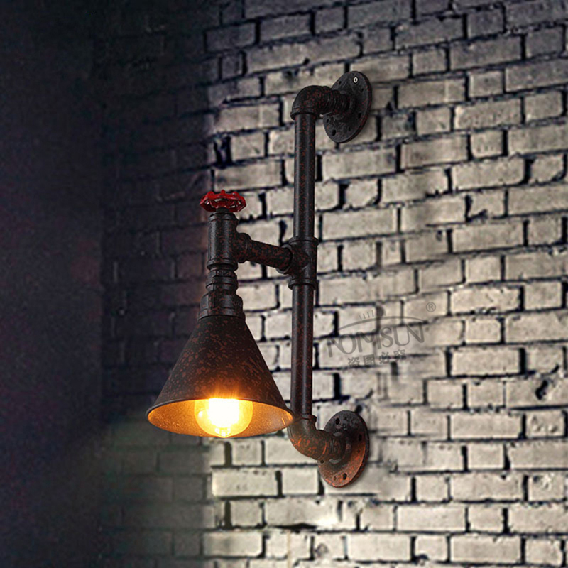 pipe vintage wall lamp industrial loft bedside warehouse lamps wall sconce lights lamparas de pared for cafe club bar shop(China (Mainland))