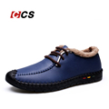 Winter Warm Fur Autumn Single Ultra Soft Men s Loafers Leather Casual Style Flat Shoes Handmade