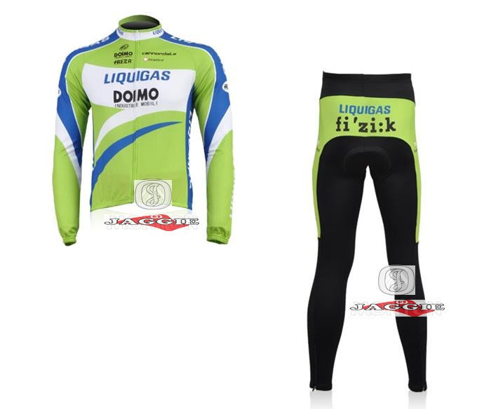 Free shipping!!! Liquigas long sleeve cycling wear clothes bicycle/bike/riding jerseys+pants sets/S-XXXL