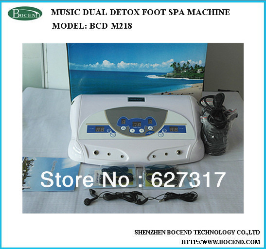 Multifunction Dual Ion Cleanse Detox Foot SPA Massage Machine With MP3 Music Function BCD-M218(China (Mainland))
