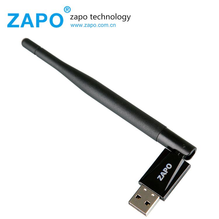 ZAPO 150Mbps wireless network card 802.11N wifi adapter Mini usb wi-fi receiver Antenna wi fi Bluetooth 4.0 dongle lan Adaptador(China (Mainland))