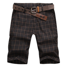 Hot 2015 Summer Men Classic Plaid Design Cotton Shorts Casual Surf Beach Short Pants Brand Famous Slacks High Quality(China (Mainland))