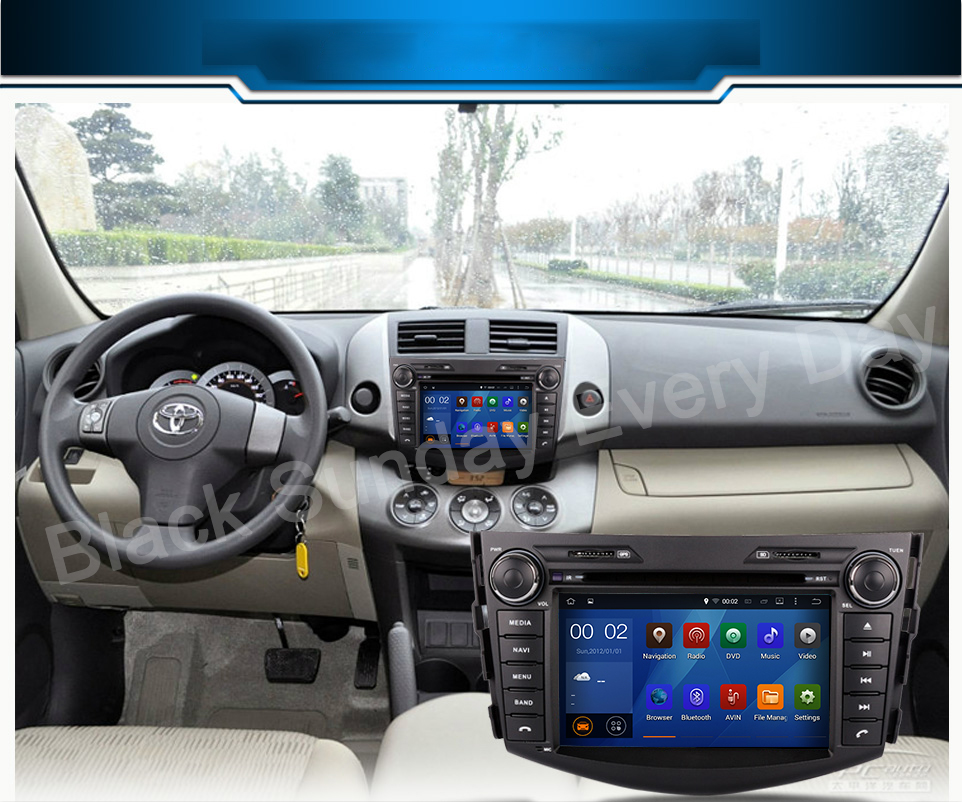 Quad-Core Android 5.1.1 CAR DVD player navigation FOR TOYOTA RAV4 2008-2011 car audio stereo Multimedia GPS support OBD TPMS(China (Mainland))