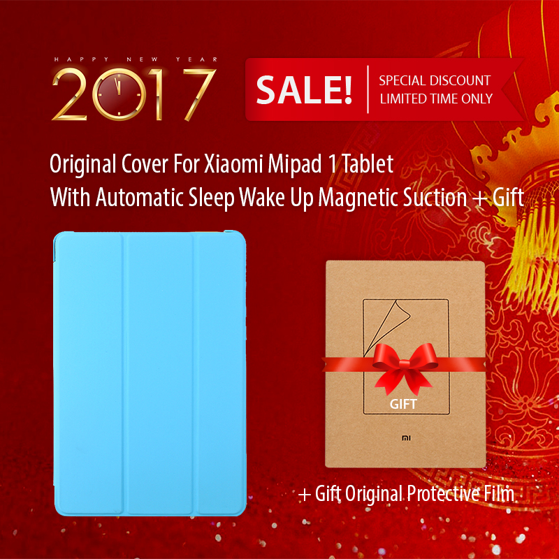 Original For Xiaomi Mipad 1 Tablet Cover With Automatic Sleep Wake Up Magnetic Suction For Xiaomi Mi Pad 1 Gift Protective Film