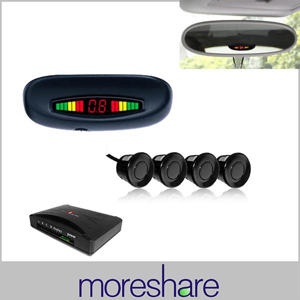 LED Car Parking Sensors Assistance System Distance Display Rear Roof Mounting 4 Sensor Radar ePacket - Shenzhen Moreshare Group Co.,Ltd store